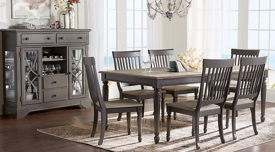 Crawford 7 Piece Rectangle Dining Sets Regarding Popular Interior (View 8 of 20)