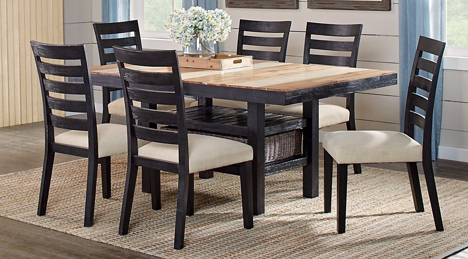 Crawford 7 Piece Rectangle Dining Sets Within 2018 Farmington Hills Black 5 Pc Rectangle Dining Room In (View 18 of 20)
