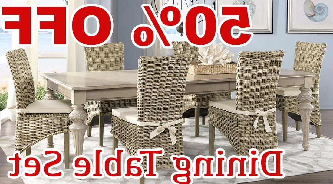 Crawford 7 Piece Rectangle Dining Sets Within Most Popular 50 Percent Off Discount Cindy Crawford Home Key West Sand 5 Pc (View 6 of 20)
