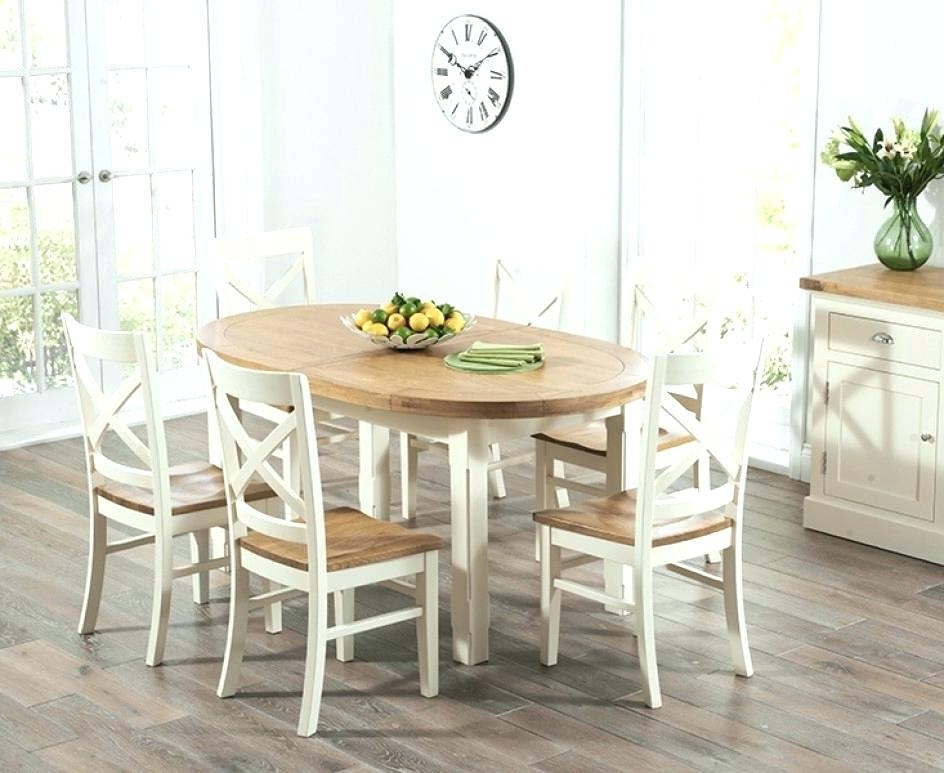 Cream And Wood Dining Tables Intended For Popular Cream Dining Room Chairs Sale Awesome Oak Dining Table And Chairs (View 20 of 20)