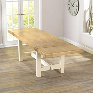 Cream And Wood Dining Tables Throughout Favorite Solid Oak Extendable Dining Table – Extending Table For Family (View 10 of 20)