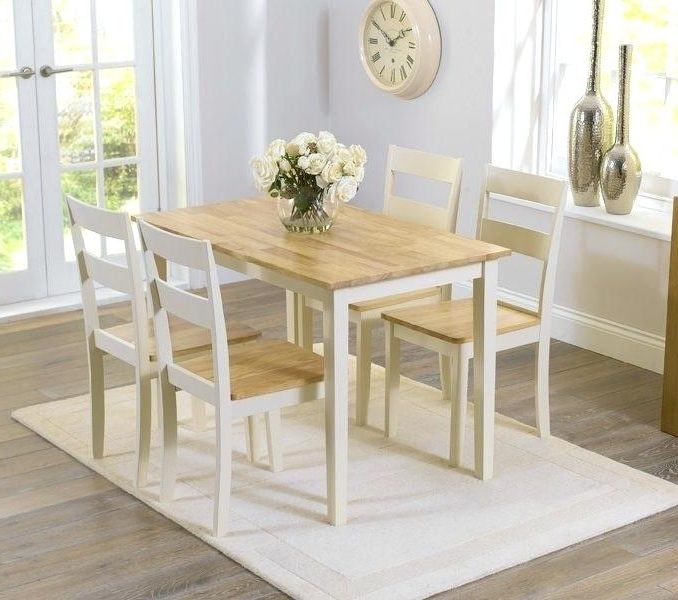 Cream Dining Tables And Chairs Intended For Best And Newest Cream Dining Table Cream Round Table And Chairs Amusing Cream Dining (View 6 of 20)