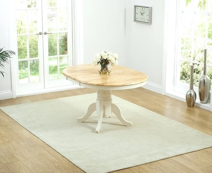 Cream Dining Tables And Chairs Regarding Most Current Fascinating Cream And Oak Round Dining Table Tables With Bench Dark (View 8 of 20)