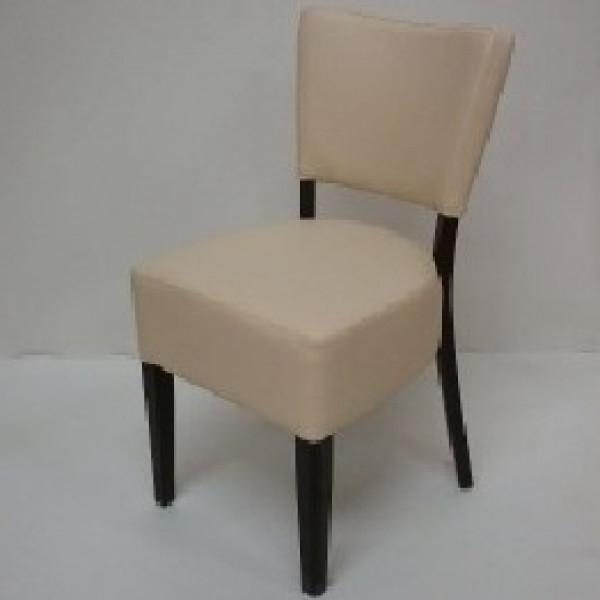 Cream Faux Leather Dining Chairs Inside Trendy Restaurant Furniture – Thrasher Faux Leather Dining Chairs – Red (View 3 of 20)