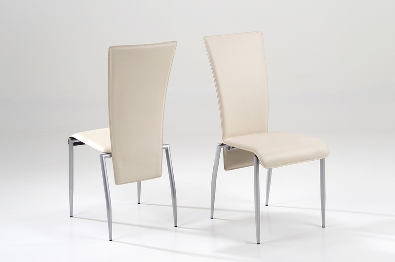 Cream Faux Leather Dining Chairs With Regard To Fashionable Milan Dining Chair Cream Leather – Quality Dining Chairs (View 6 of 20)