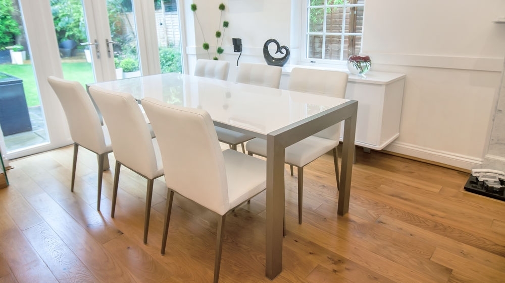 Cream Gloss Dining Tables And Chairs Intended For Popular White High Gloss Extending Dining Table (View 20 of 20)