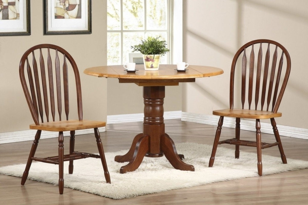 Cream Lacquer Dining Tables Regarding Newest Modern Drop Leaf Kitchen Table Wooden Chair Brown Mahogany Materials (View 7 of 20)