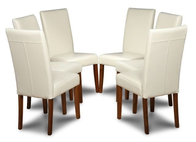 Cream Leather Dining Chairs Within Well Known Leather Cream Dining Chairs For Your Dining Room (View 5 of 20)