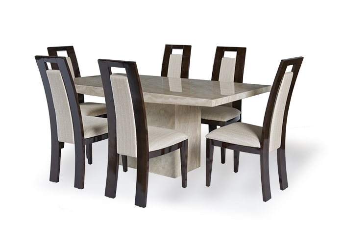 Cream Marble Dining Table Set – Allied Home Interiors Intended For Newest Marble Dining Tables Sets (View 2 of 20)