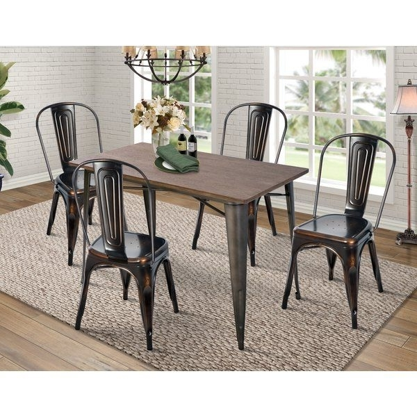Croley 5 Piece Dining Set Regarding Well Liked Jameson Grey 5 Piece Counter Sets (View 5 of 20)