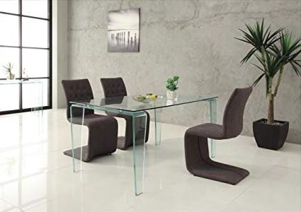 Crystal Dining Tables In Favorite Amazon – Creative Furniture Crystal Dining Table, Transparent (View 4 of 20)