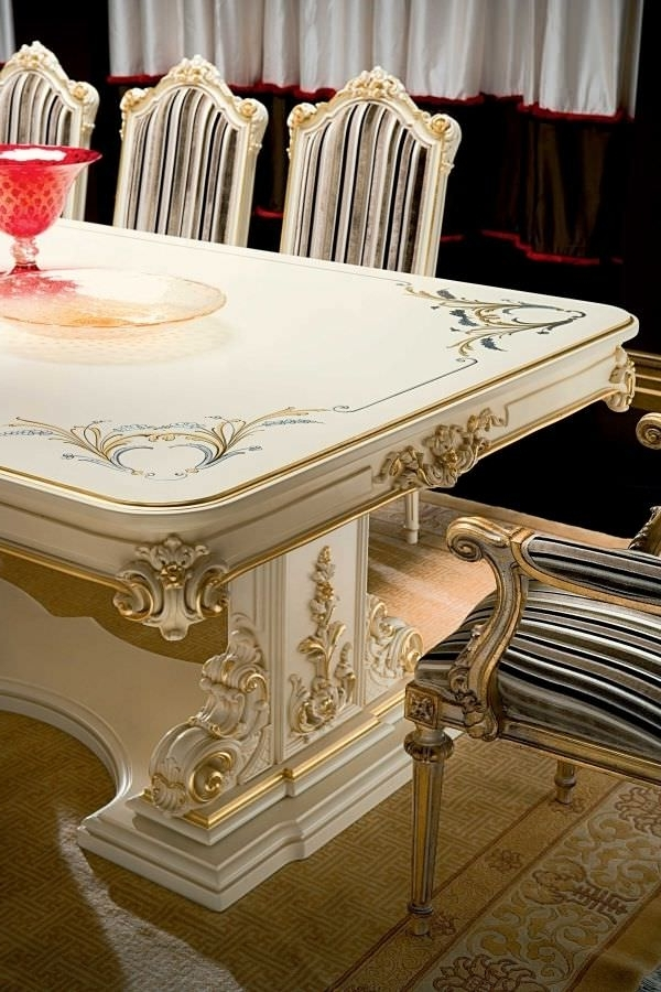 Crystal Dining Tables In Trendy Classic Dining Table / Crystal / Rectangular / For Hotels – Talia (View 5 of 20)