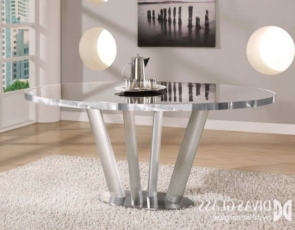 Crystal Dining Tables Intended For Trendy Crystal Glass Dining Table (View 8 of 20)