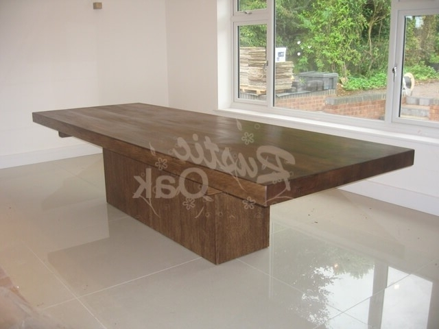 Cube Based Dining Table – Rustic Oak Regarding Most Recently Released Cube Dining Tables (View 2 of 20)