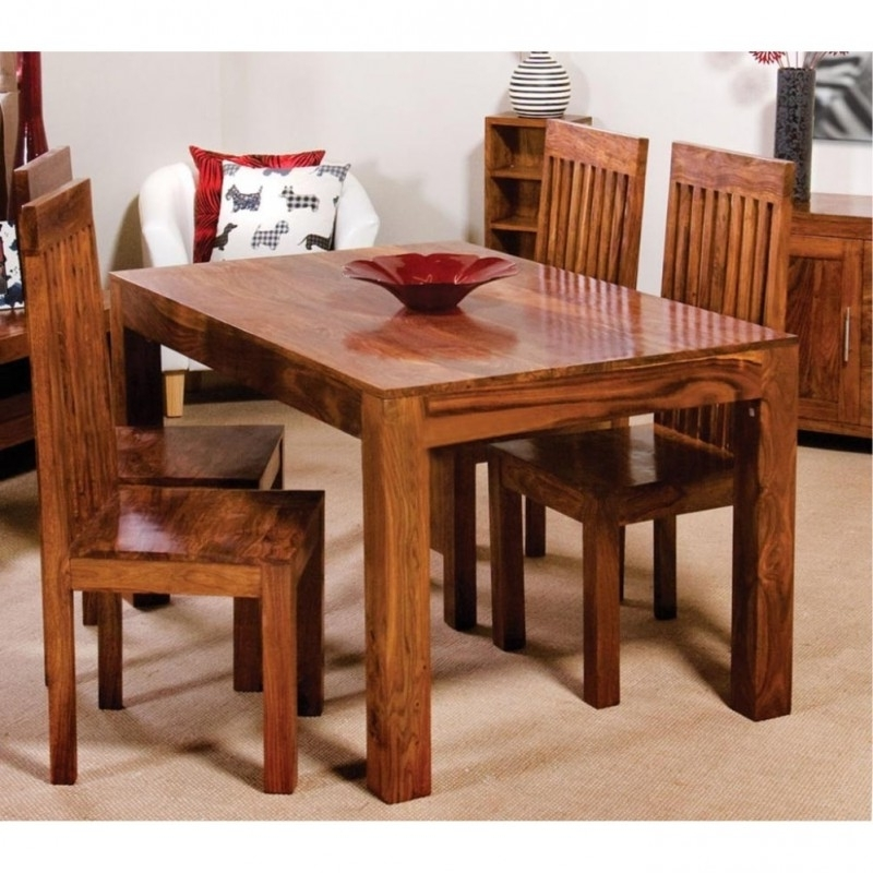 Cube Dining Tables With Popular Cube Wooden Dining Table Set 4 Seater  Wooden Dining Table Online (View 6 of 20)