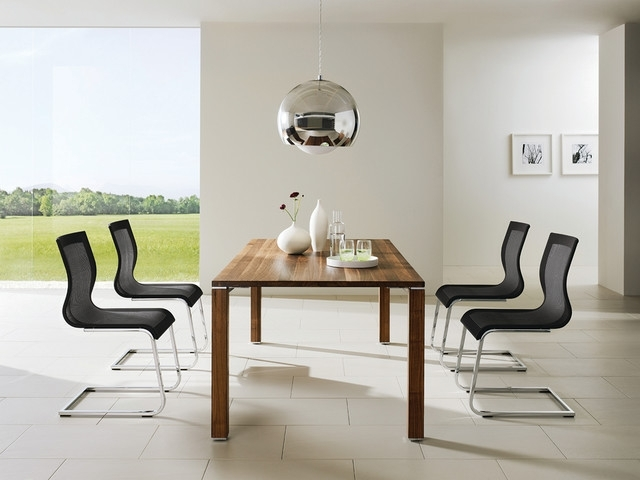 Cubis T1 Dining Table And Luxury Ergonomic Dining Chairs Pertaining To Recent Contemporary Dining Room Chairs (View 3 of 20)