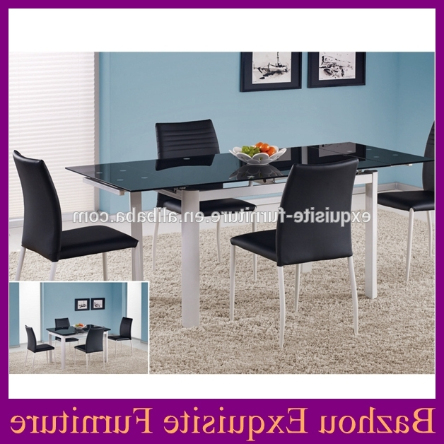 Current 6 Seater Glass Dining Table Sets With Regard To Hot Selling Modern Tempered Glass Dining Table Set With 6 Seater In (View 9 of 20)