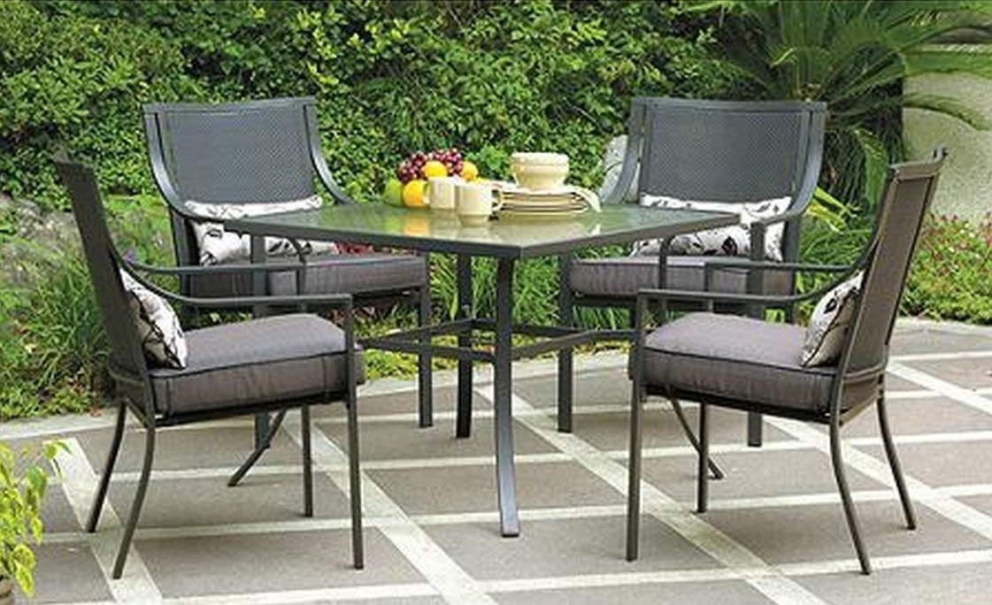 Current Amazon: Gramercy Home 5 Piece Patio Dining Table Set: Garden Within Jaxon 5 Piece Round Dining Sets With Upholstered Chairs (View 3 of 20)