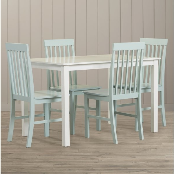 Current Beachcrest Home Cienna 5 Piece Dining Set & Reviews (View 15 of 20)