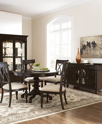 Current Bradford Round Dining Room Furniture – Furniture – Macy's Pertaining To Bradford Dining Tables (View 10 of 20)