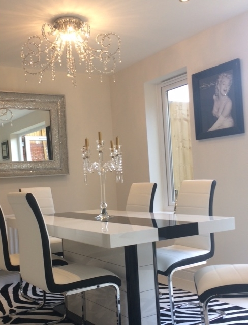 Current Buy High Gloss Black & White Extending Dining Table 160 256Cm 10 12 Inside High Gloss Dining Sets (View 4 of 20)