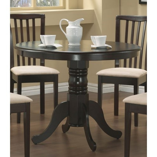 Current Cheap Round Dining Tables Throughout Amazon: Coaster Brannan Casual Cappuccino Dining Table: Kitchen (View 9 of 20)