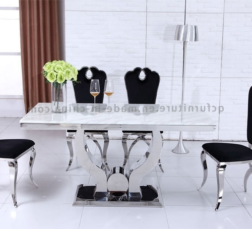 Current China Modern Big Size 10 Seater Dining Room Table White Marble Throughout 10 Seater Dining Tables And Chairs (View 13 of 20)