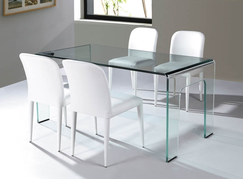 Current Curved Glass Dining Tables Regarding Viva Modern (View 2 of 20)
