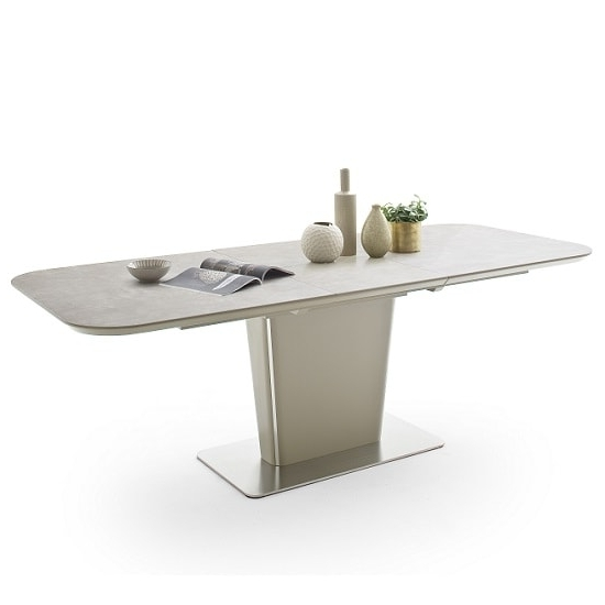 Current Dawson Dining Tables Within Dawson Extendable Dining Table Rectangular In Taupe (View 9 of 20)