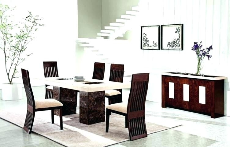 Current Dining Table Sets With 6 Chairs With Regard To Round Dining Set For 6 7 Piece Patio Seats Simple Table Impressive (View 6 of 20)