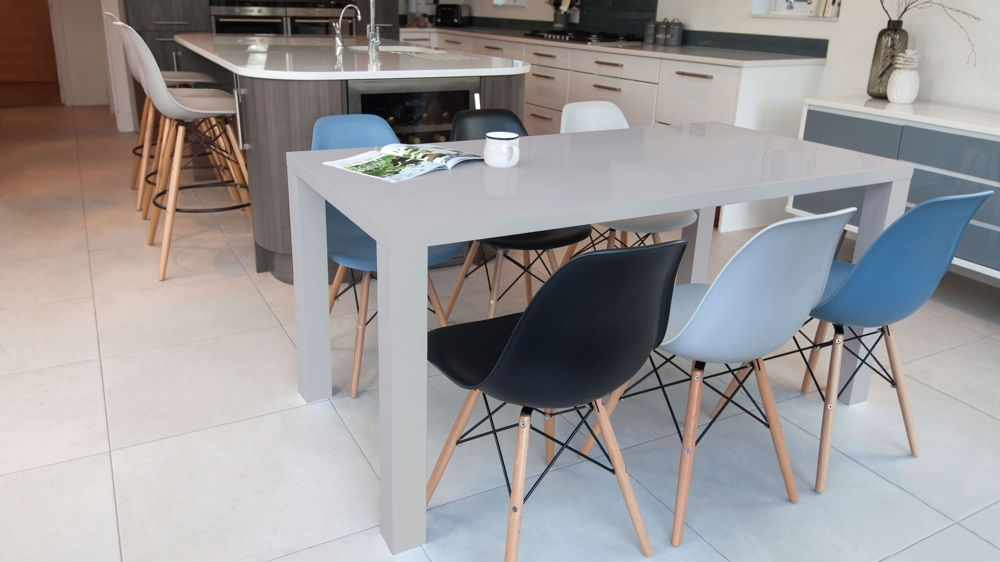 Current Eames Chairs And Grey Gloss 6 Seater Dining Set (View 14 of 20)