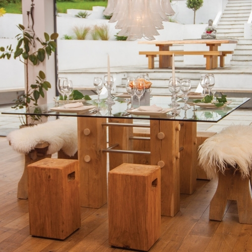 Current Glass Oak Dining Tables For Show Us Yours Oak & Glass Dining Table (View 3 of 20)