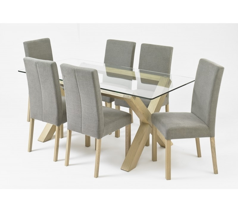 Current Glass Top Oak Dining Tables Regarding Bentley Designs Turin Aged Glass Top Dining Table (View 6 of 20)