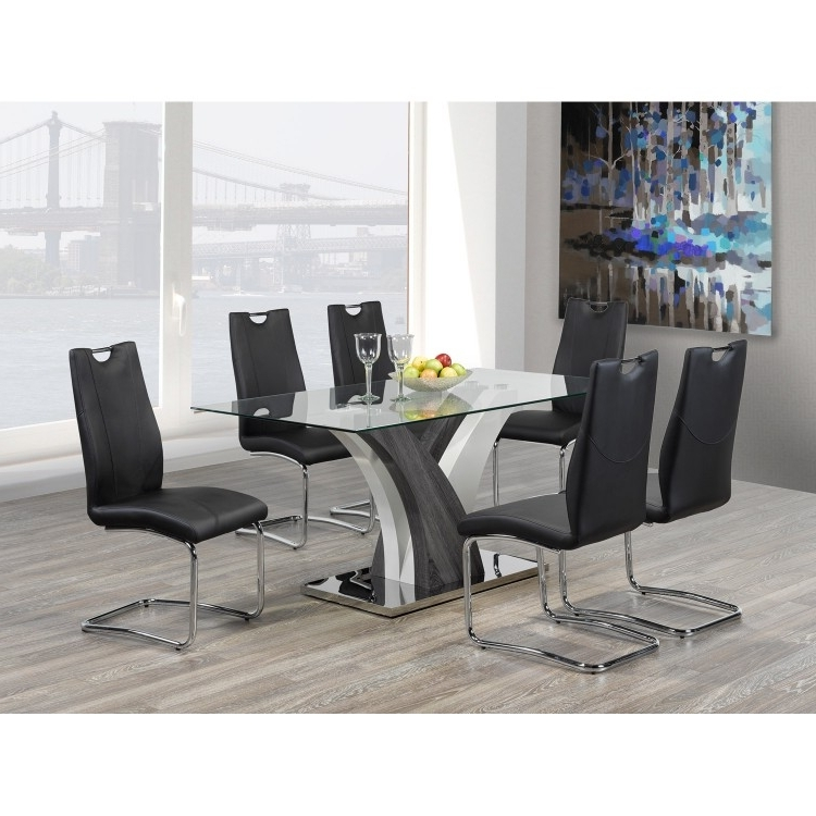 Current Grey Glass Dining Tables With Regard To Dining Table (View 1 of 20)