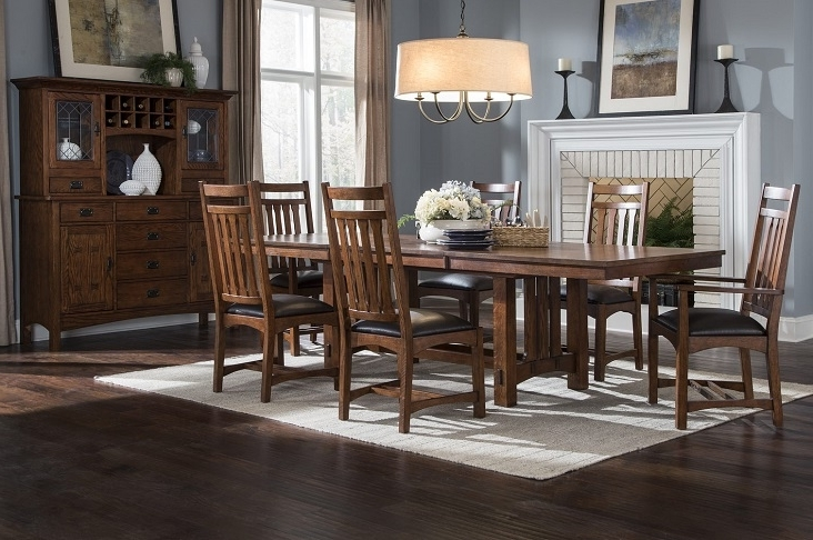 Current Intercon Furniture Oak Park Dining Room Collectiondining Rooms Within Craftsman 7 Piece Rectangle Extension Dining Sets With Arm & Side Chairs (View 11 of 20)