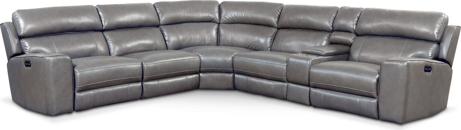 Current Jackson 6 Piece Power Reclining Sectionals With  Sleeper For Newport 6 Piece Power Reclining Sectional With 3 Reclining Seats (View 3 of 15)