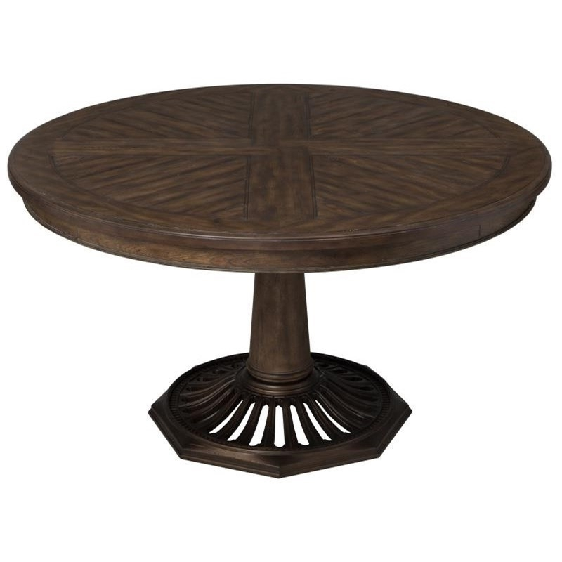 Current Jefferson Extension Round Dining Tables For Magnussen Home Jefferson Market Vintage Round Dining Table With (View 5 of 20)