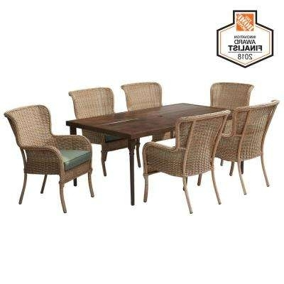 Current Lemon Grove – Hampton Bay – Patio Furniture – Outdoors – The Home Depot Inside Leon 7 Piece Dining Sets (View 18 of 20)