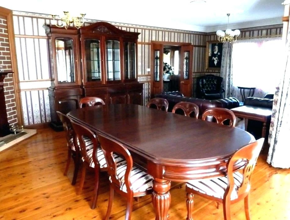 Current Mahogany Dining Table Sets Inside Imágenes De Antique Mahogany Dining Room Table And Chairs (View 18 of 20)