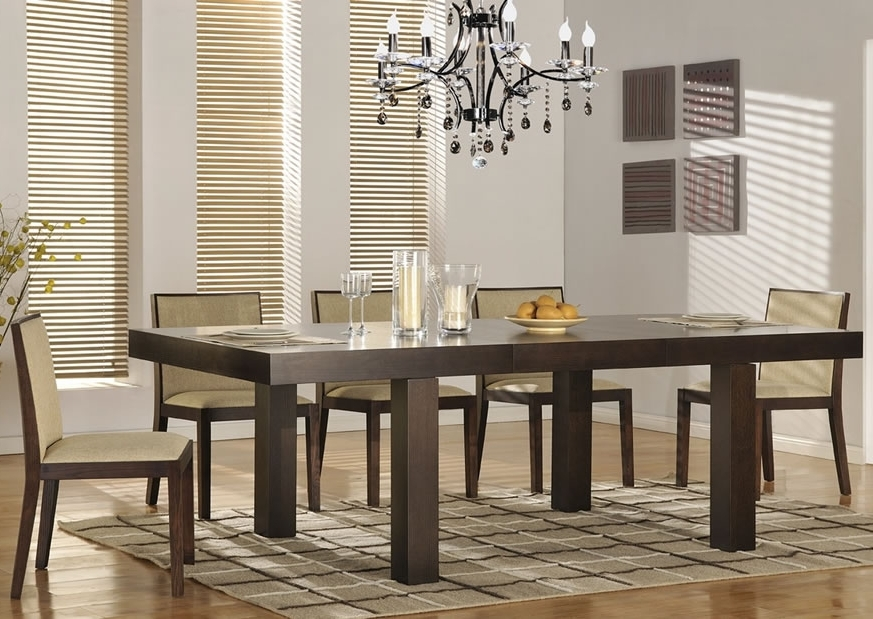 Current Modern Dining Room Furniture Pertaining To Attractive Modern Dining Room Sets — Bluehawkboosters Home Design (View 6 of 20)