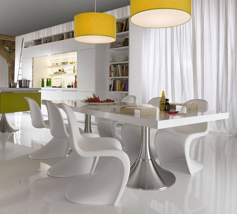 Current Modern Dining Table And Chairs In Decorating Modern Dining Room Chairs — Bluehawkboosters Home Design (View 2 of 20)