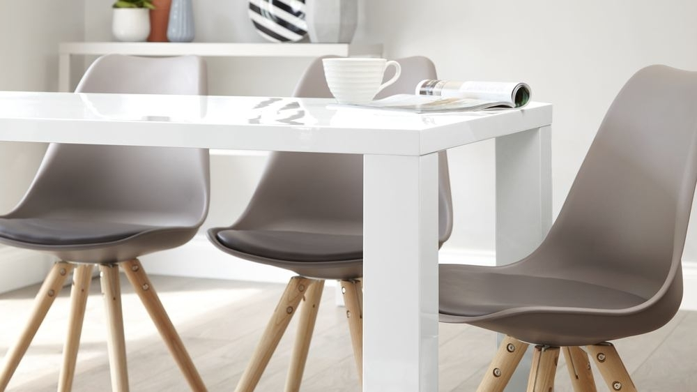 Current Modern White Gloss Dining Table (View 8 of 20)