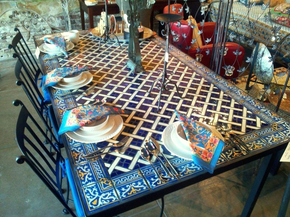 Current Mosaic Dining Table – Travelward In Mosaic Dining Tables For Sale (View 18 of 20)