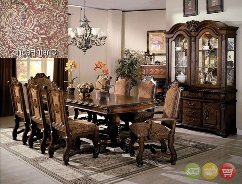 Current Neo Renaissance Formal Dining Room Furniture Set With Optional China Regarding Bale 6 Piece Dining Sets With Dom Side Chairs (View 9 of 20)
