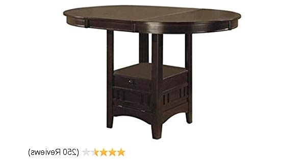 Current Partridge Dining Tables Intended For Amazon – Lavon Counter Height Table Espresso – Tables (View 12 of 20)