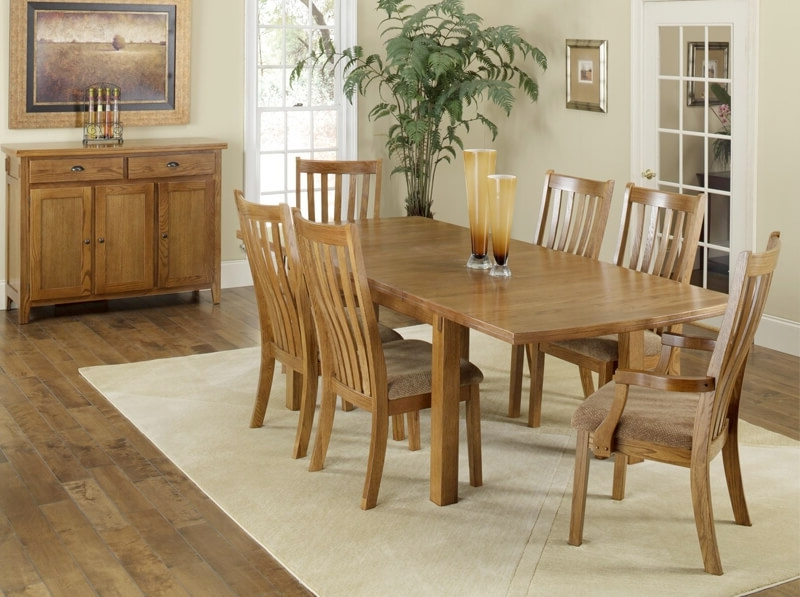 Current Portland 78 Inch Dining Tables Regarding Portland Solid Oak 7 Piece Dining Group (View 4 of 20)