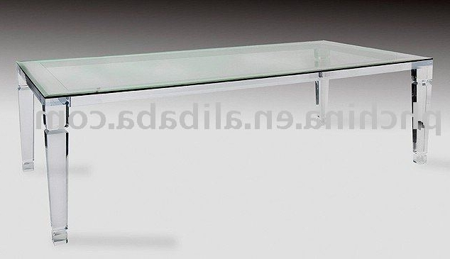 Current Round Acrylic Dining Tables Regarding Long Crystal Clear Acrylic Dining Table,glass Top Top Grade Coffe (View 4 of 20)