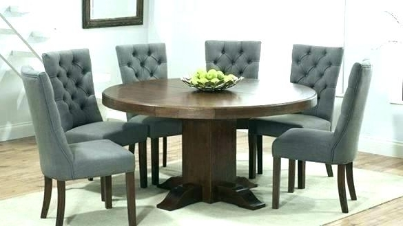 Current Round Wooden Dining Table For 6 – Kuchniauani Regarding Dark Wooden Dining Tables (View 16 of 20)
