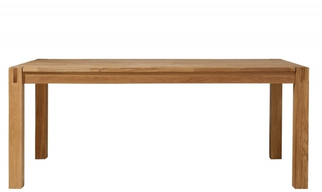 Current Royal Oak – 180Cm Modern Oak Dining Table – Fishpools Intended For 180Cm Dining Tables (View 9 of 20)