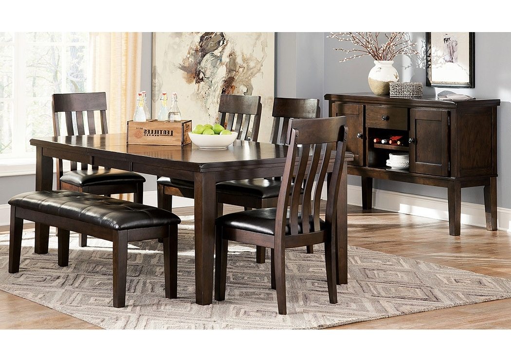 Current Select Imports Furniture And Decor Haddigan Dark Brown Rectangle In Craftsman 7 Piece Rectangle Extension Dining Sets With Side Chairs (View 11 of 20)